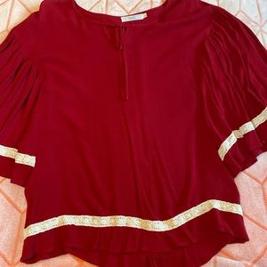 Red boutique blouse